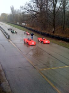 Rain on track
